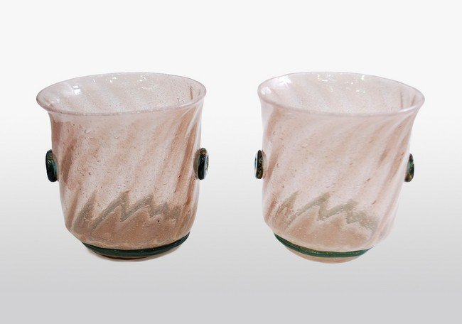 5: Early Pair of Murano Bowls by A.V.E.M.