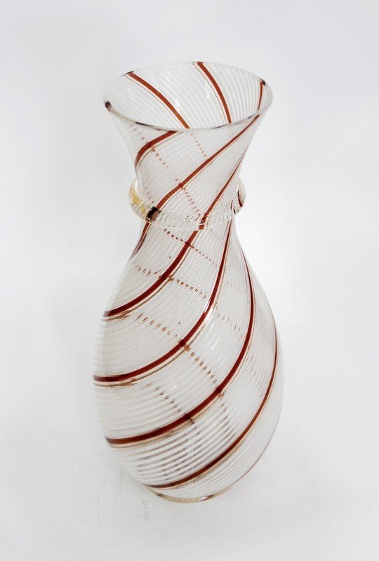 """9: Murano """"Latticino"""" Vase by Dino Martens"""