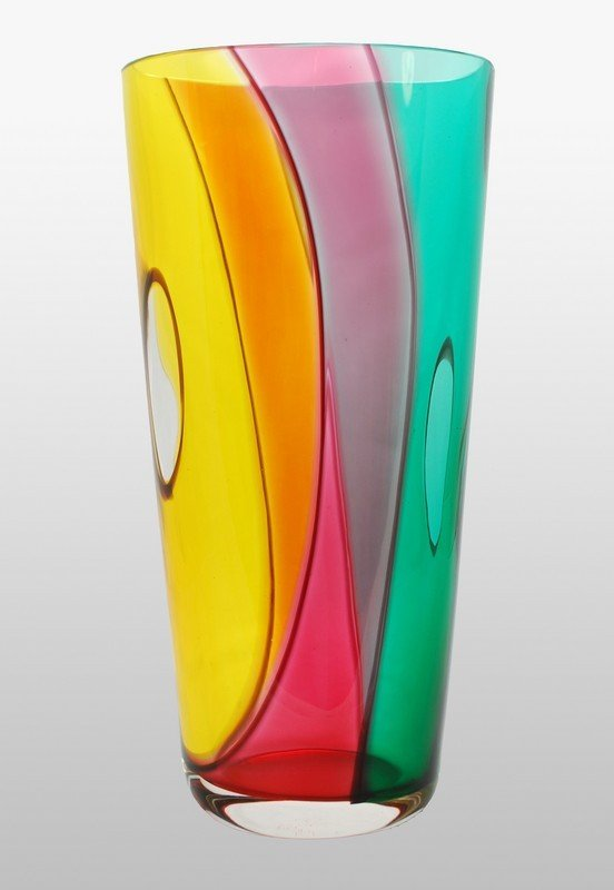 """15A: Fine & Rare Murano """"Patchwork"""" Vase by Archimede S"""