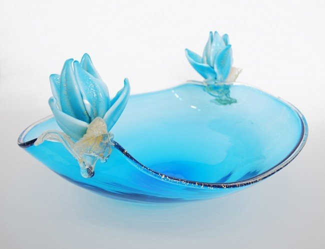 18: Large Murano Console Bowl by Archimede Seguso