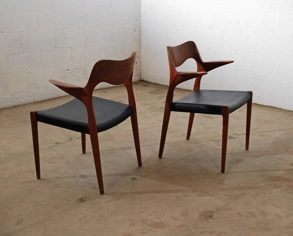 2: Niels O. Moller Pair of Dining Chairs