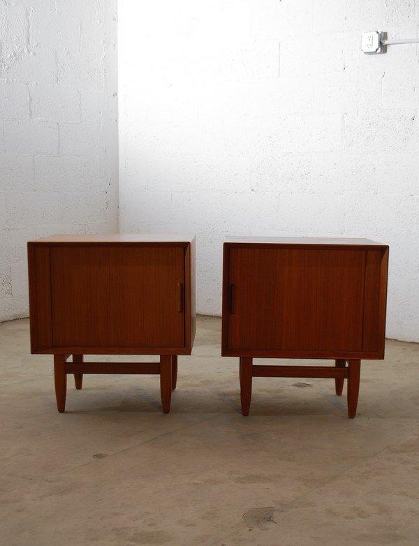 9: Pair of Danish Modern Nightstands - 2