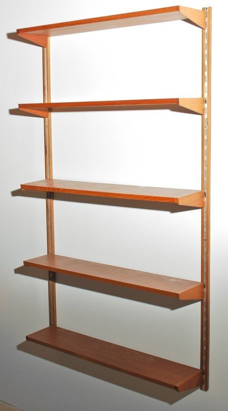 11: Pair of Danish Modern Wall Mounted Book Shelves - 2