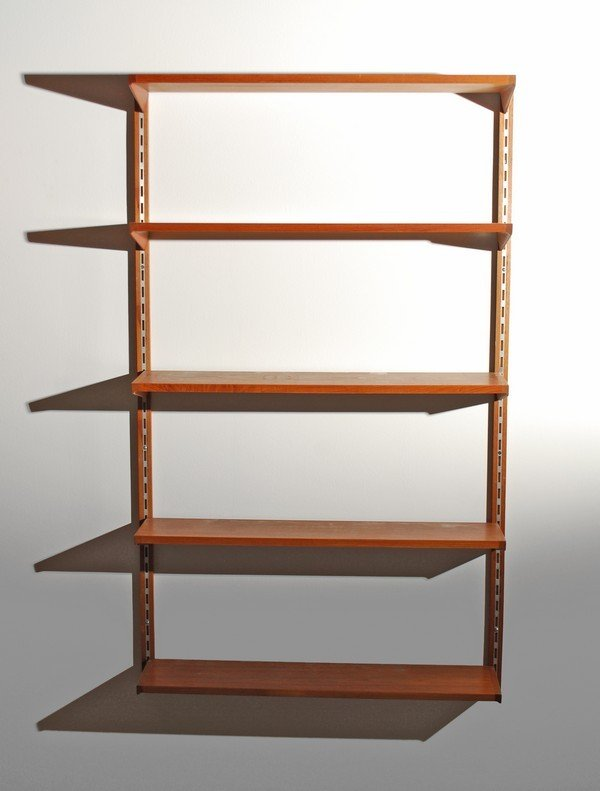 11: Pair of Danish Modern Wall Mounted Book Shelves - 3