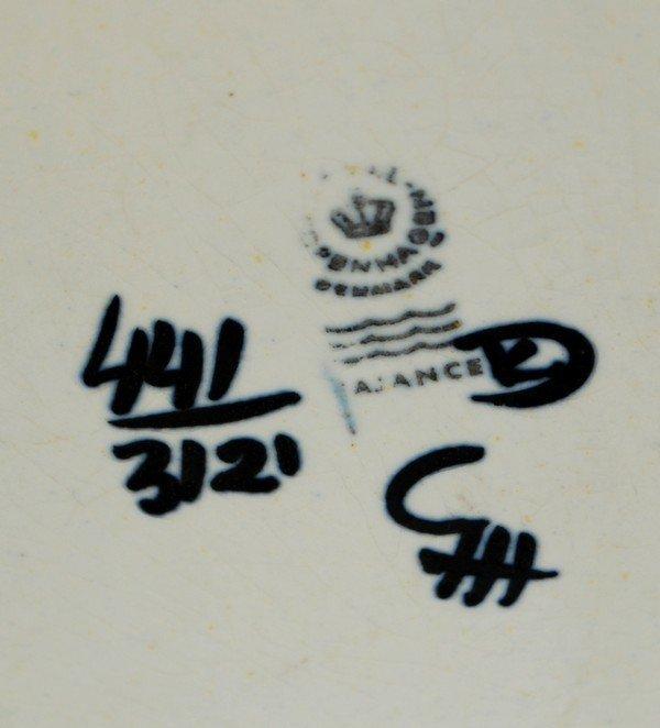 19: Royal Copenhagen Faience Vase - 6