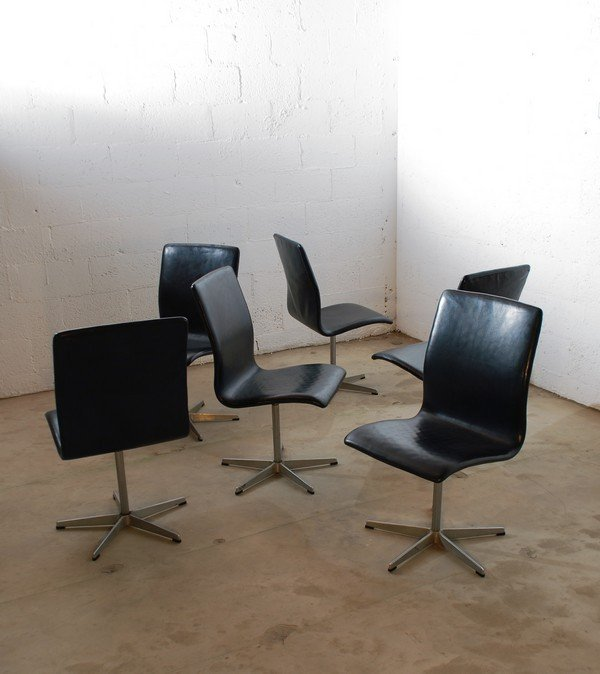 """24: Set of 6 Arne Jacobsen """"Oxford"""" Dining Chairs - 2"""