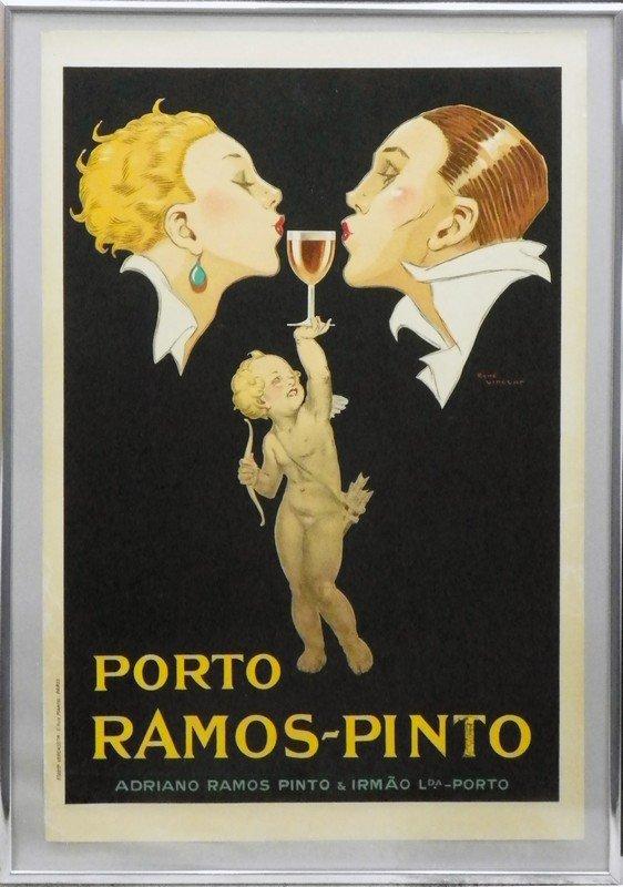 34: Rene Vincent Advertising Poster, Porto Ramos Pinto - 2