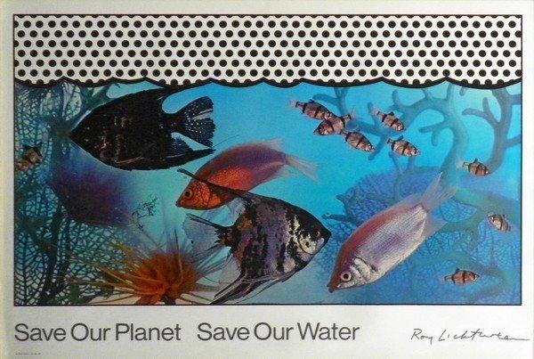 44: Roy Lichtenstein Poster, Save Our Planet...