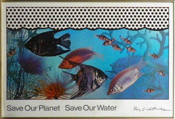 44: Roy Lichtenstein Poster, Save Our Planet... - 2