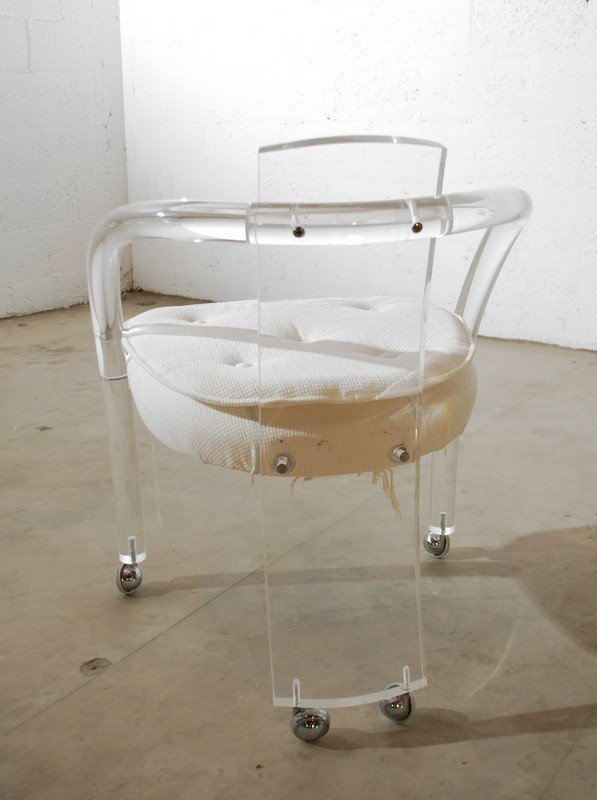 55: Set of 6 Lucite Dining Chairs, Charles Hollis Jones - 6