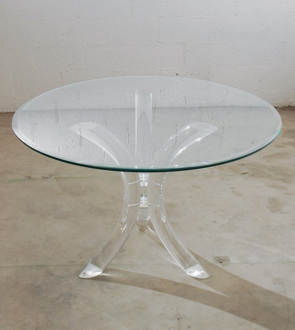 58: Lucite Dining Table, Manner of Charles Hollis Jones