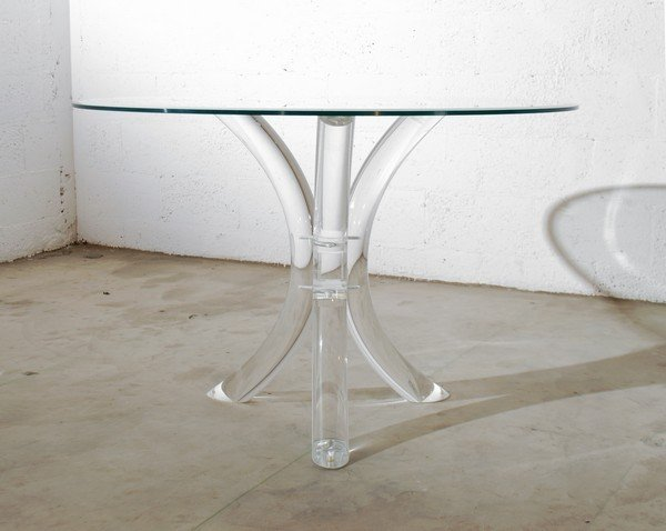 58: Lucite Dining Table, Manner of Charles Hollis Jones - 2