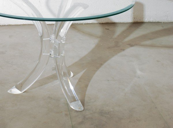 58: Lucite Dining Table, Manner of Charles Hollis Jones - 3