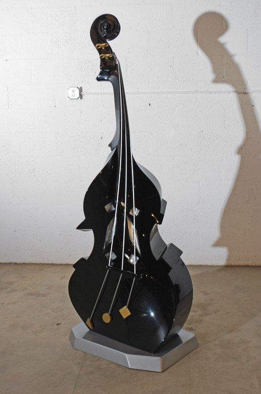 148: Untitled Sculpture Of A Jazz Double Bass To Scale - 2