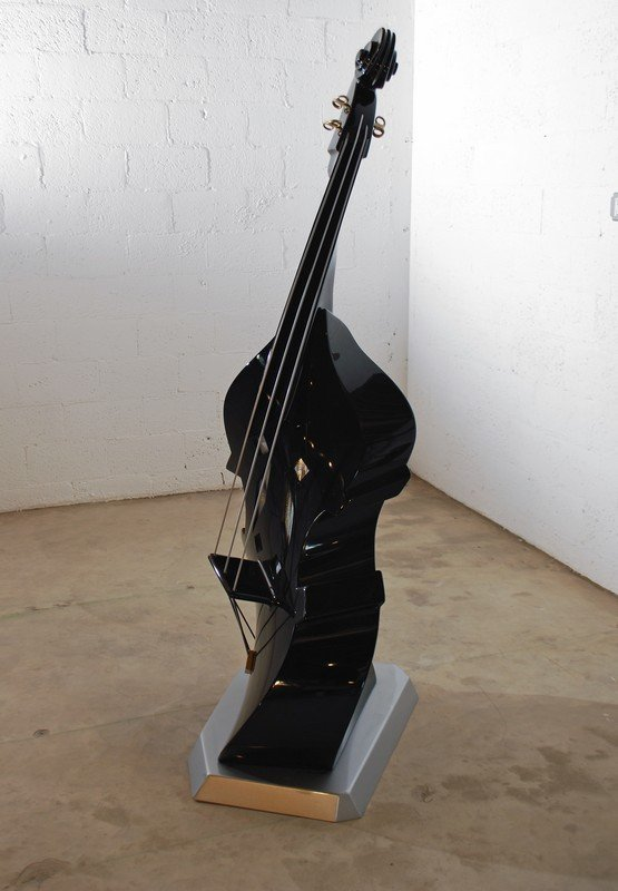 148: Untitled Sculpture Of A Jazz Double Bass To Scale - 3
