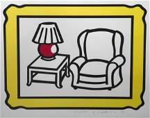 """190: Roy Lichtenstein """"Red Lamp"""" 22/250"""