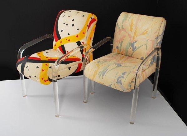 1: Pair of Lucite Armchairs, Manner of Hollis Jones