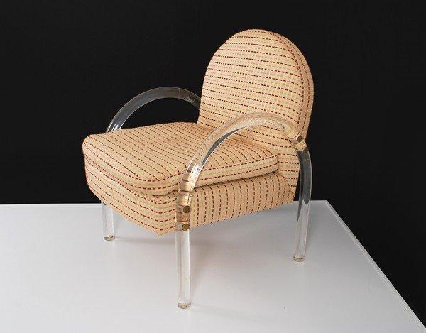 2: Lucite Arm Chair, Manner of Hollis Jones