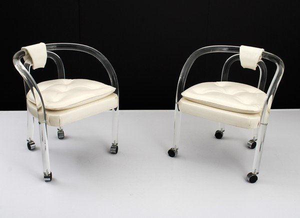 3: Pair of Lucite Chairs, Manner of Springer