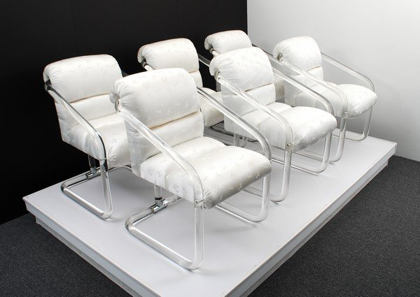 9: Set of 6 Lion In Frost Dining Chairs
