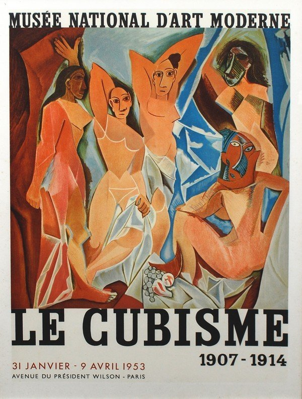 """57: Pablo Picasso Exhibition Poster, """"Le Cubisme"""", 1953"""