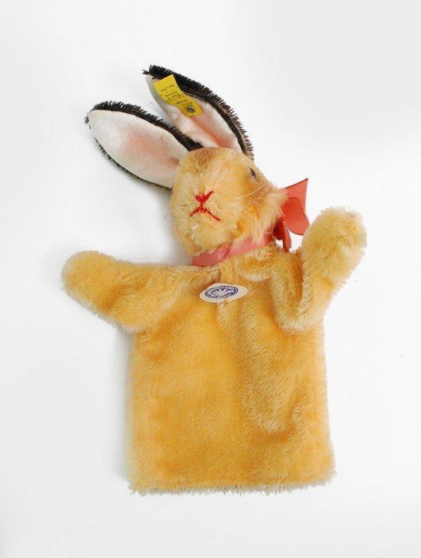 385: 6 Vintage Steiff Hand Puppets, Rabbit