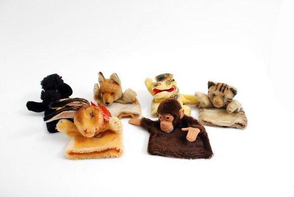 385: 6 Vintage Steiff Hand Puppets, Rabbit - 2
