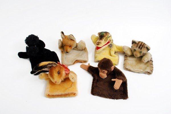 385: 6 Vintage Steiff Hand Puppets, Rabbit - 7