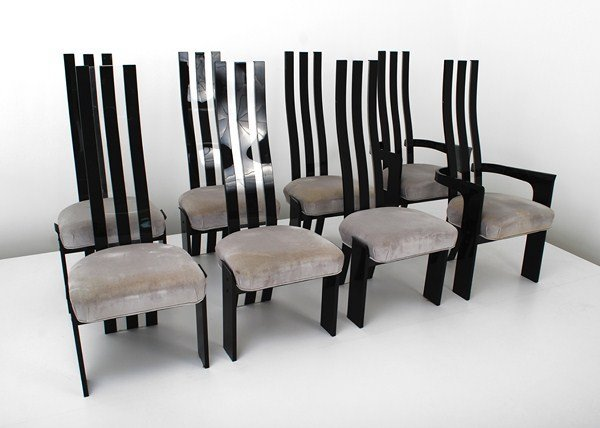 3: Set of 8 Lucite Dining Chairs