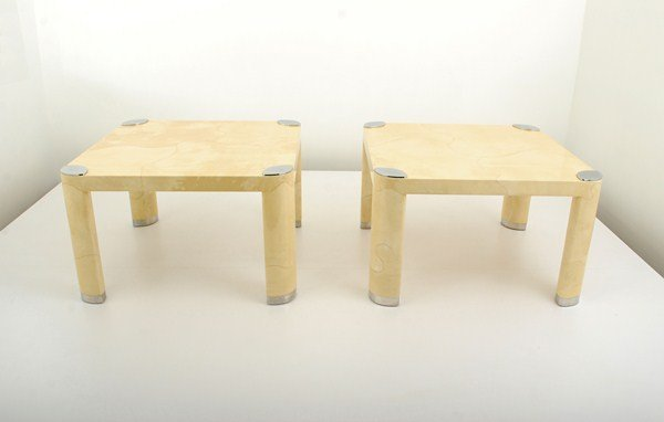 9: Pair of Occasional Tables by Karl Springer