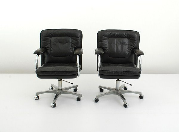 103: Pair of Mariani Leather Desk Chairs