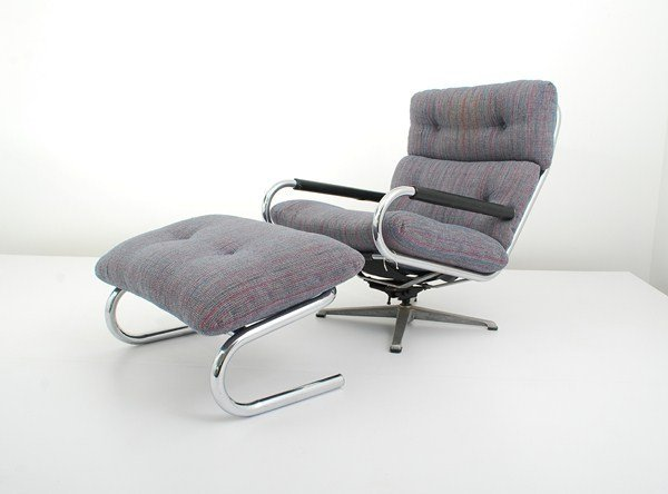 109: Swivel Chair & Ottoman by Directional