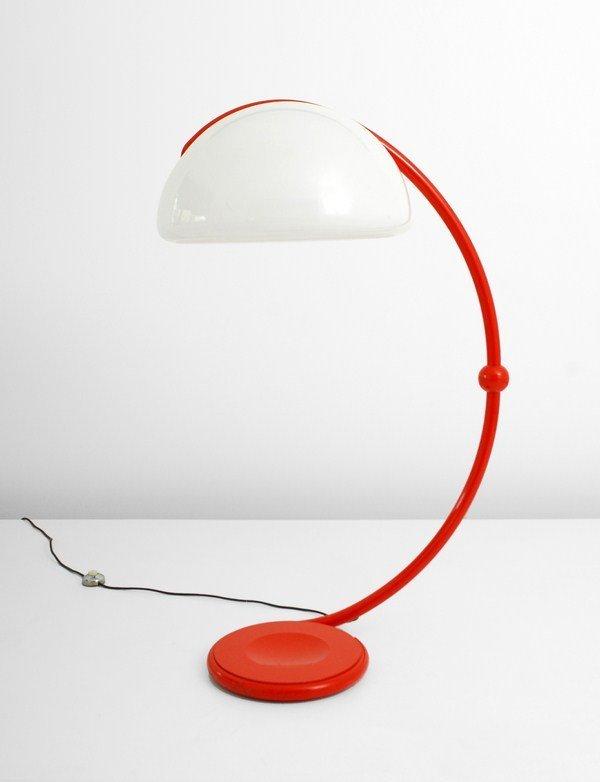 """119: Rare Elio Martinelli """"Serpente"""" Floor Lamp"""