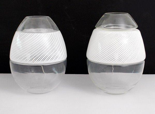 124: Pair of Monumental Vistosi Lamps