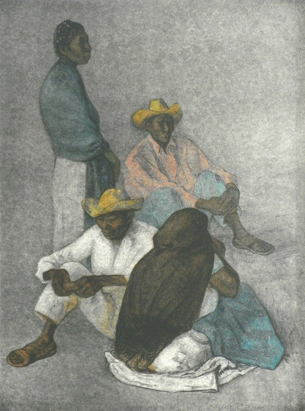 129: Lithograph by Francisco Zuniga