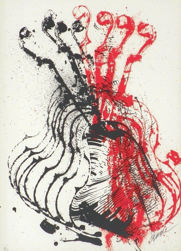 131: Abstract Lithograph by Arman