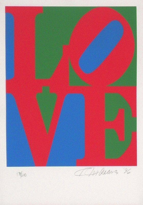 """134: """"Book of Love"""" Silkscreen by Robert Indiana"""