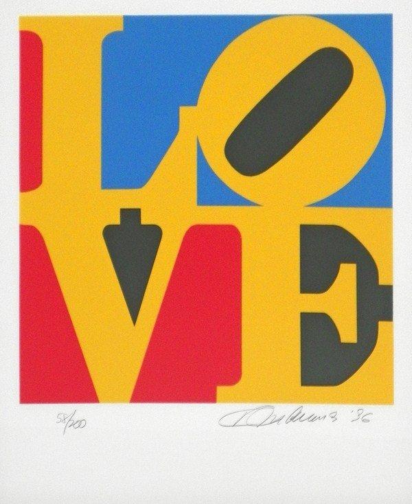 """135: """"Book of Love"""" Silkscreen by Robert Indiana"""