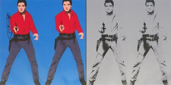 """137: """"Elvis I And Elvis II"""" Lithograph, Andy Warhol"""