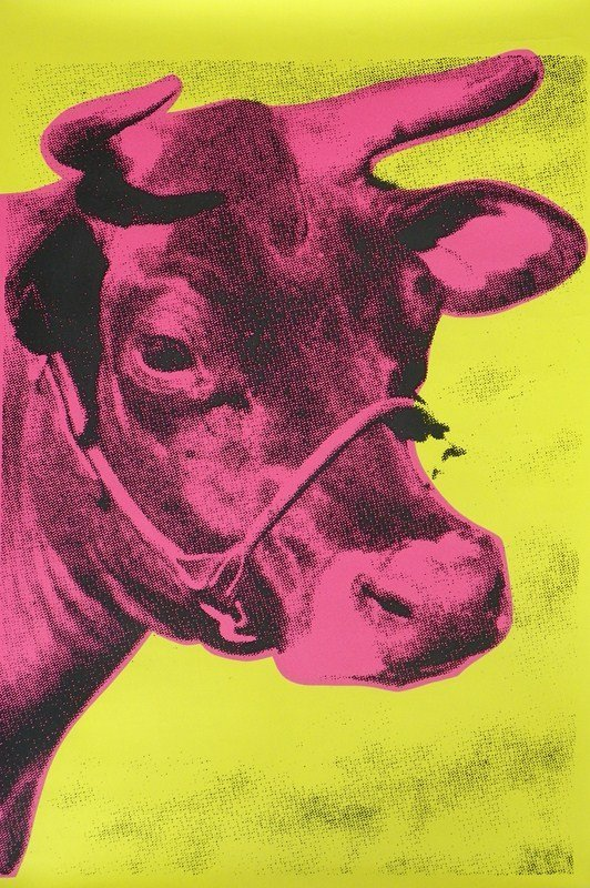"""138: """"Cow"""" Screen-print After Andy Warhol"""