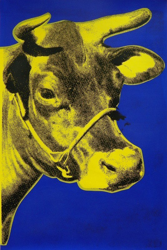 """139: """"Cow"""" Screen-print After Andy Warhol"""
