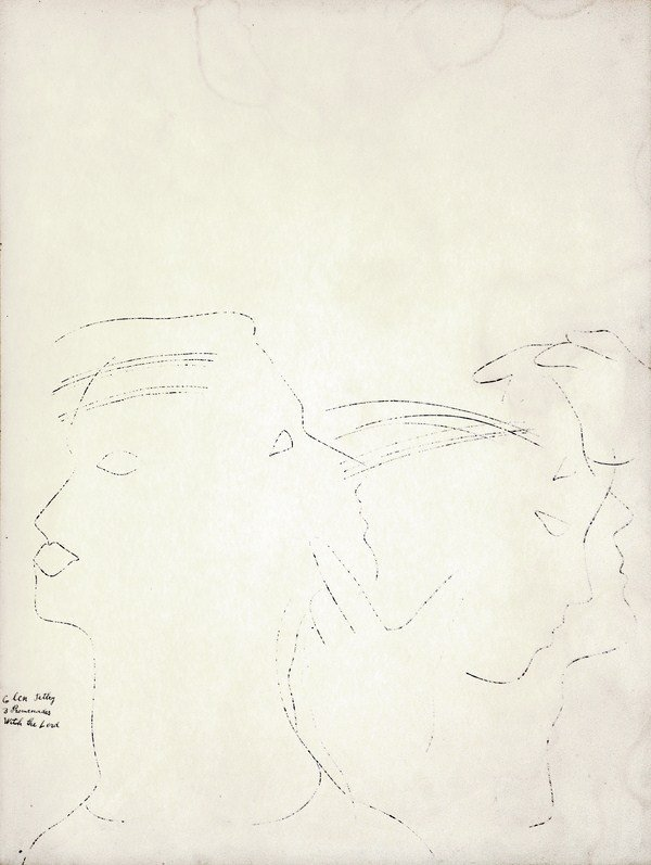 139A: Original Dancer Ink Drawing by Andy Warhol