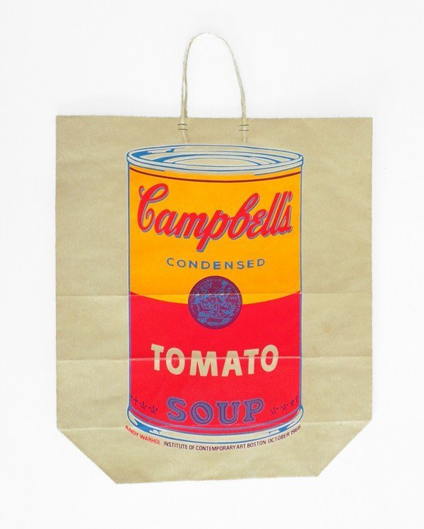 """140: """"Campbell's…"""" Screen-print on Bag by Andy Warhol"""