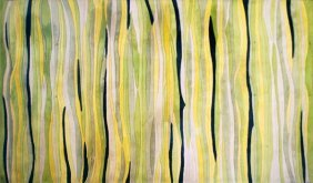 "Large & Colorful ""Jungle"" Rug By V'Soske"