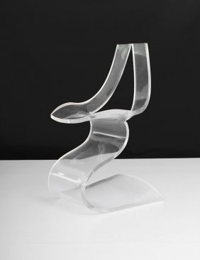 Lucite Chair By Michel Dumas