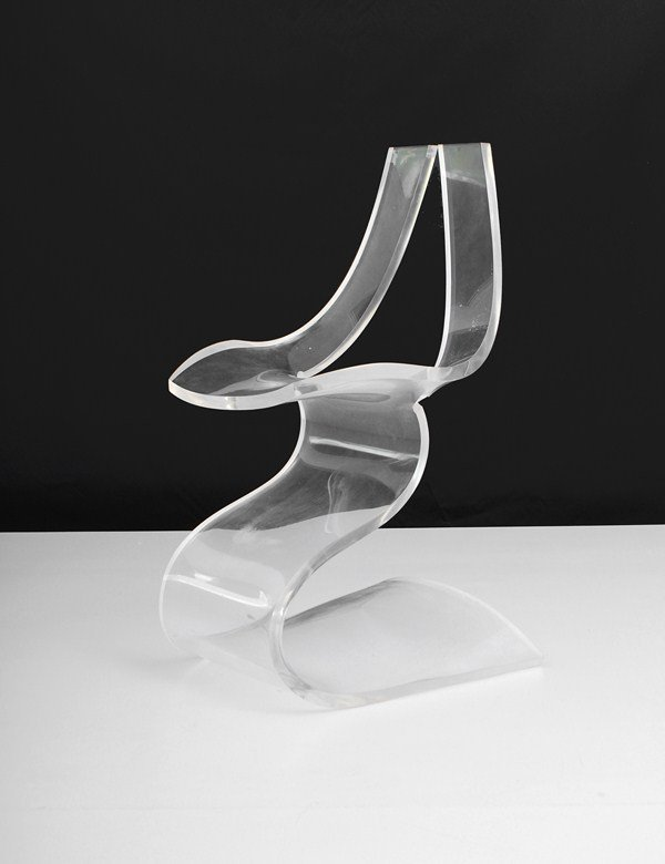 191: Lucite Chair by Michel Dumas