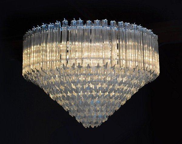194: Monumental Italian Glass Chandelier by Venini