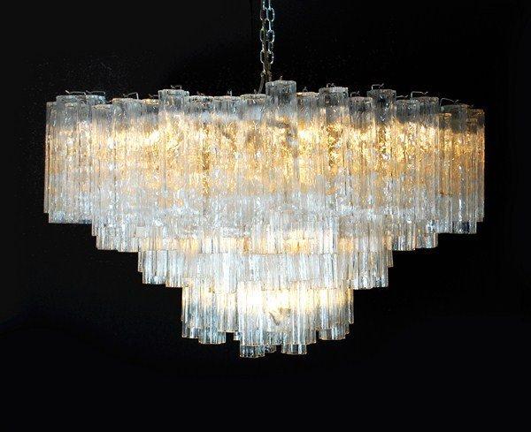 195: Monumental Camer Glass Chandelier