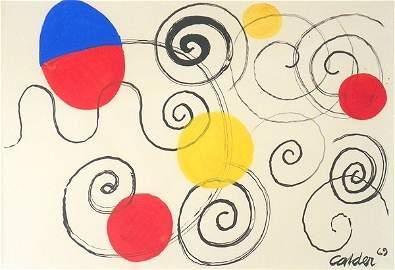 242: Alexander Calder Gouache #A06247