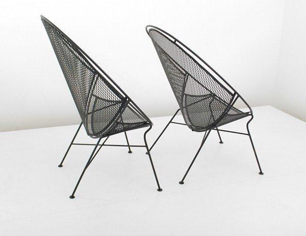 469: Rare Pair of Salterini Chairs - 2